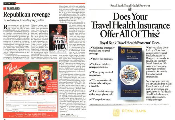 Article Preview: Republican revenge, November 1993 | Maclean's
