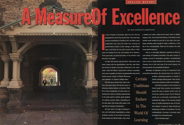 Article Preview: A Measure Of Excellence, November 1993 | Maclean's