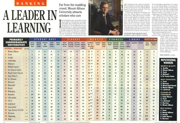 Article Preview: A LEADER IN LEARNING, November 1993 | Maclean's