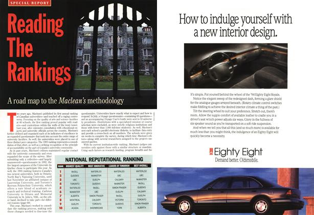 Article Preview: Reading The Rankings, November 1993 | Maclean's