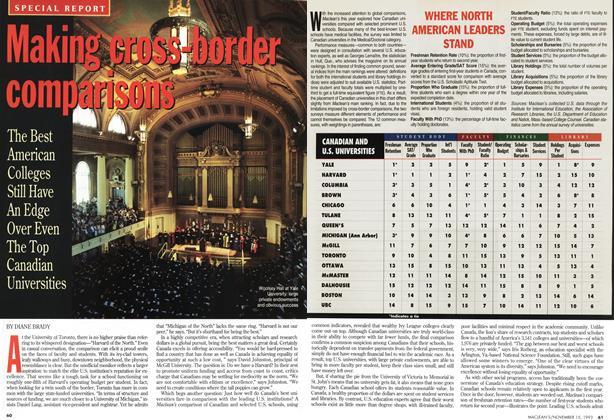 Article Preview: Making cross-border comparisons, November 1993 | Maclean's