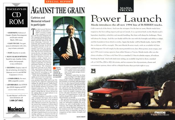 Article Preview: AGAINST THE GRAIN, November 1993 | Maclean's
