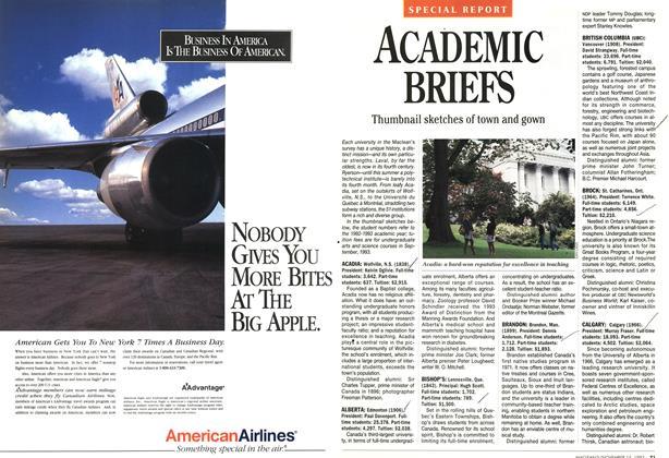 Article Preview: ACADEMIC BRIEFS, November 1993 | Maclean's