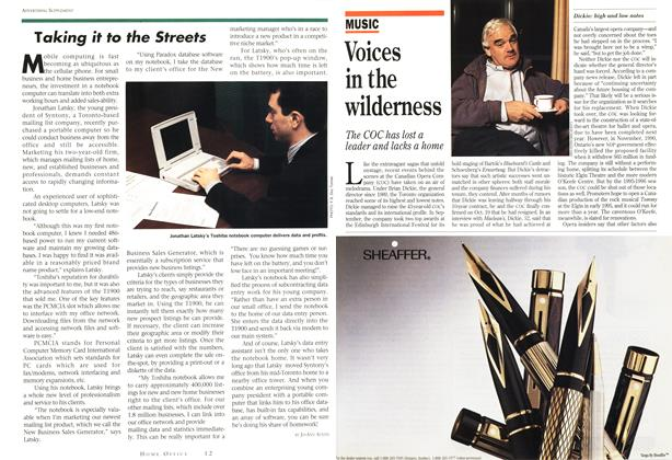 Article Preview: Voices in the wilderness, November 1993 | Maclean's