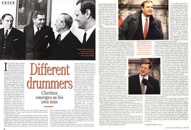 Article Preview: Different drummers, November 1993 | Maclean's