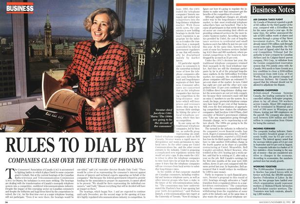 Article Preview: RULES TO DIAL BY, November 1993 | Maclean's