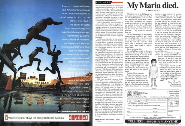 Article Preview: My Maria died., November 1993 | Maclean's