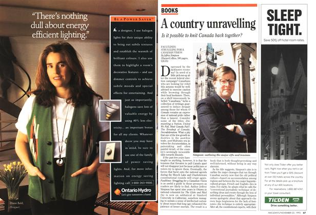 Article Preview: A country unravelling, November 1993 | Maclean's