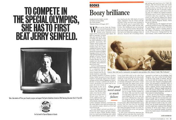 Article Preview: Boozy brilliance, November 1993 | Maclean's