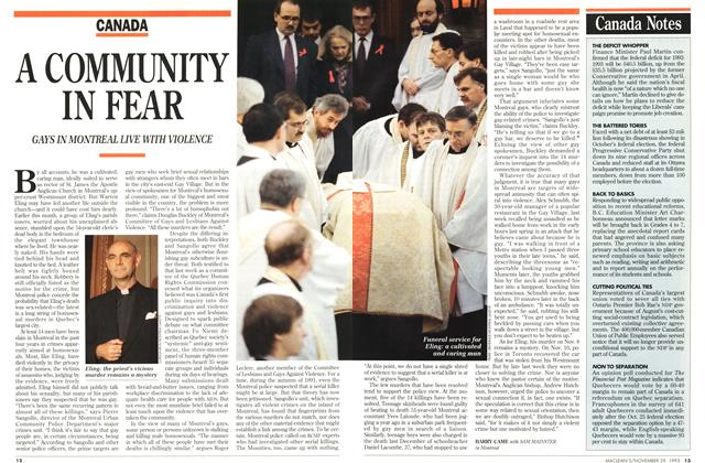 Article Preview: A COMMUNITY IN FEAR, November 1993 | Maclean's