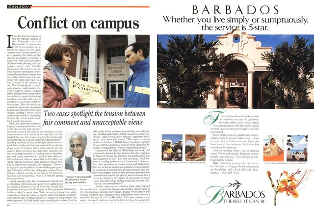 Article Preview: Conflict on campus, November 1993 | Maclean's