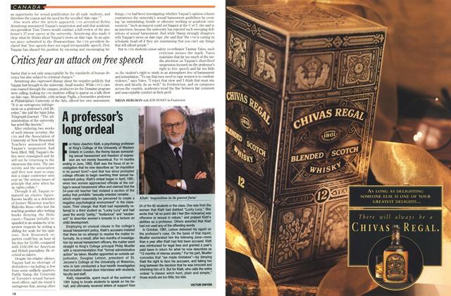 Article Preview: A professor's long ordeal, November 1993 | Maclean's