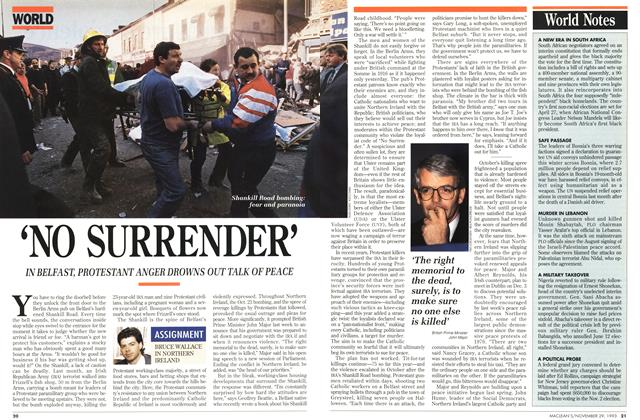 Article Preview: 'NO SURRENDER', November 1993 | Maclean's