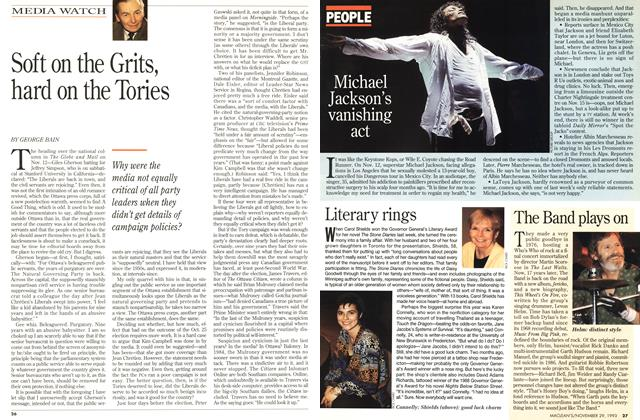 Article Preview: Soft on the Grits, hard on the Tories, November 1993 | Maclean's