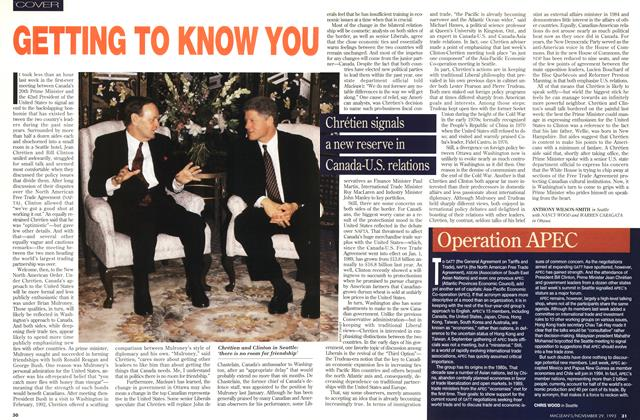 Article Preview: GETTING TO KNOW YOU, November 1993 | Maclean's