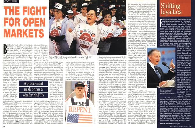 Article Preview: THE FIGHT FOR OPEN MARKETS, November 1993 | Maclean's