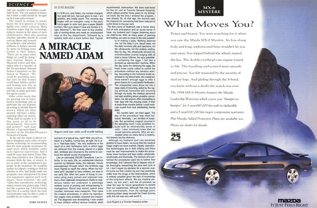 Article Preview: A MIRACLE NAMED ADAM, November 1993 | Maclean's