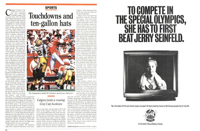 Article Preview: Touchdowns and ten-gallon hats, November 1993 | Maclean's