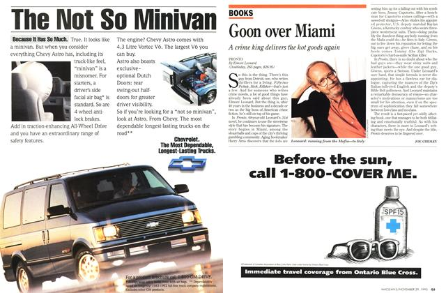 Article Preview: Goon over Miami, November 1993 | Maclean's