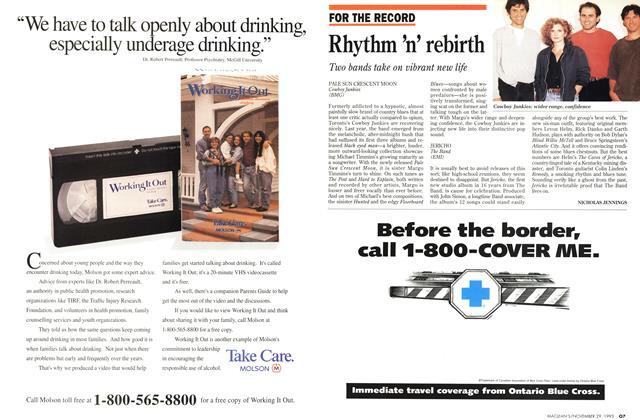 Article Preview: Rhythm 'n' rebirth, November 1993 | Maclean's