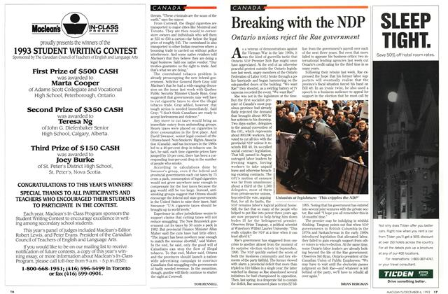 Article Preview: Breaking with the NDP, December 1993 | Maclean's