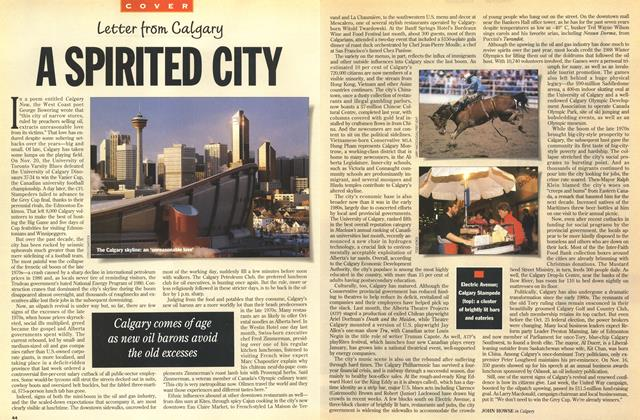 Article Preview: A SPIRITED CITY, December 1993 | Maclean's