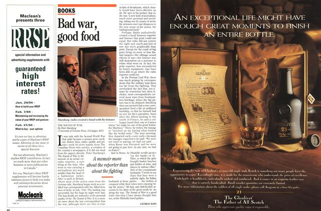Article Preview: Bad war, good food, December 1993 | Maclean's