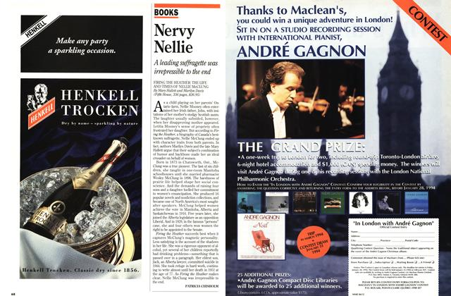 Article Preview: Nervy Nellie, December 1993 | Maclean's
