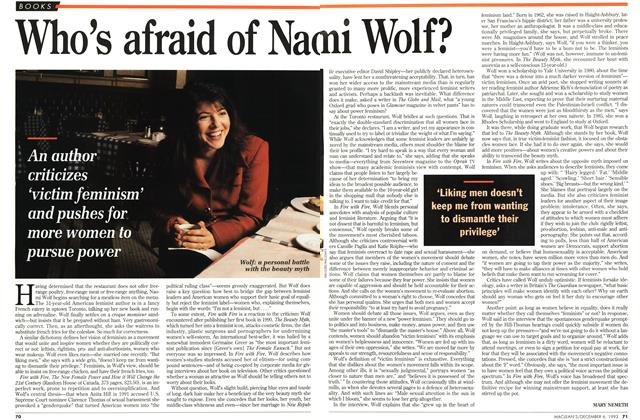 Article Preview: Who's afraid of Naomi Wolf?, December 1993 | Maclean's
