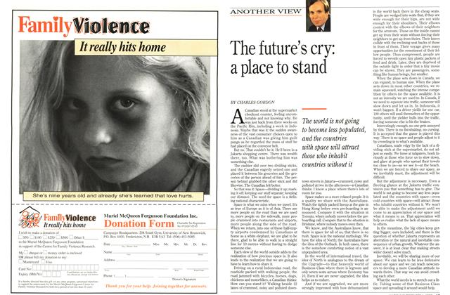 Article Preview: The future's cry: a place to stand, December 1993 | Maclean's