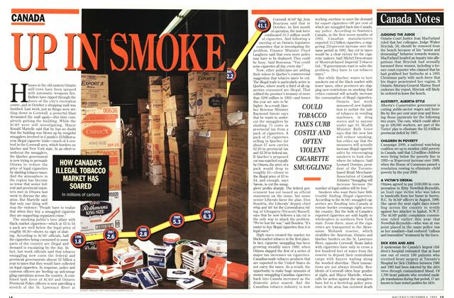 Article Preview: UP IN SMOKE, December 1993 | Maclean's