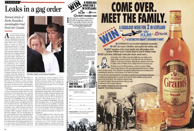 Article Preview: Leaks in a gag order, December 1993 | Maclean's