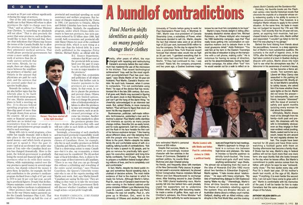 Article Preview: A bundle of contradictions, December 1993 | Maclean's