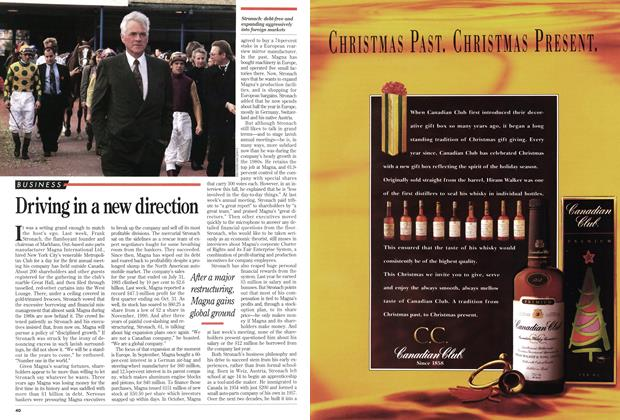 Article Preview: Driving in a new direction, December 1993 | Maclean's