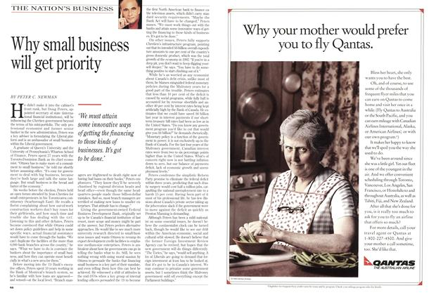 Article Preview: Why small business will get priority, December 1993 | Maclean's