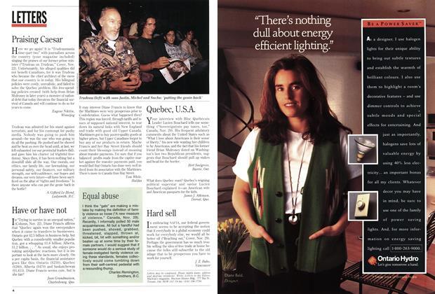 Article Preview: Praising Caesar, December 1993 | Maclean's