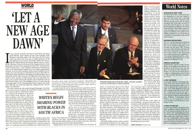 Article Preview: 'LET A NEW AGE DAWIN', December 1993 | Maclean's