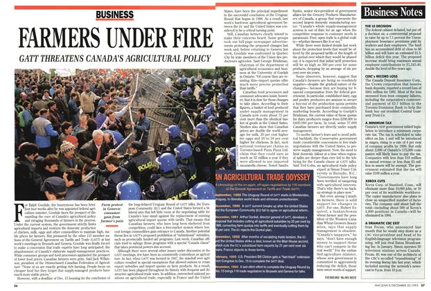 Article Preview: FARMERS UNDER FIRE, December 1993 | Maclean's