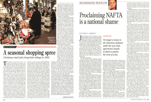 Article Preview: A seasonal shopping spree, December 1993 | Maclean's