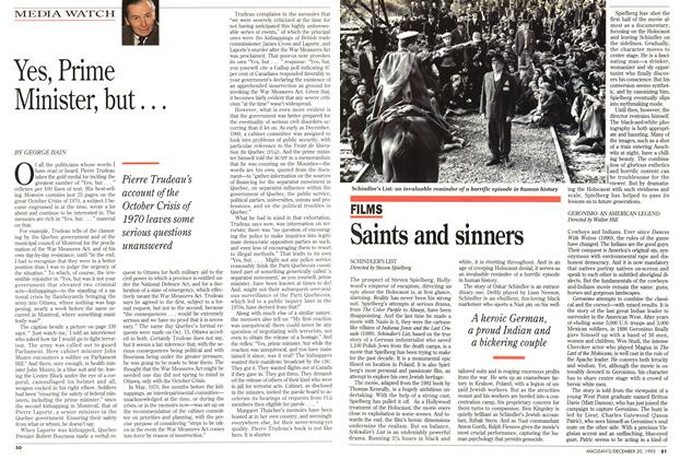Article Preview: Saints and sinners, December 1993 | Maclean's