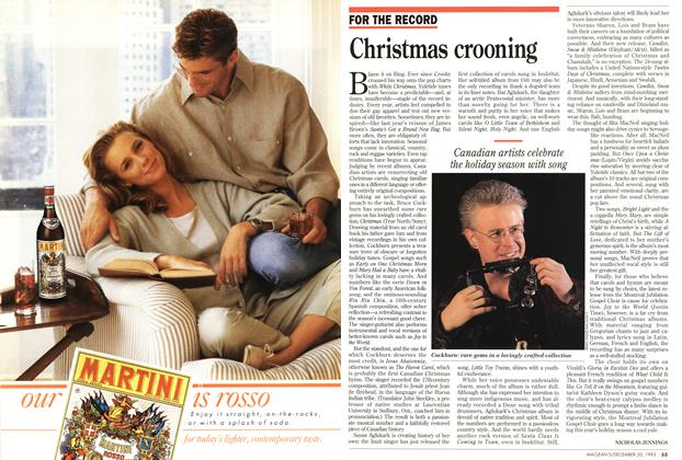 Article Preview: Christmas crooning, December 1993 | Maclean's