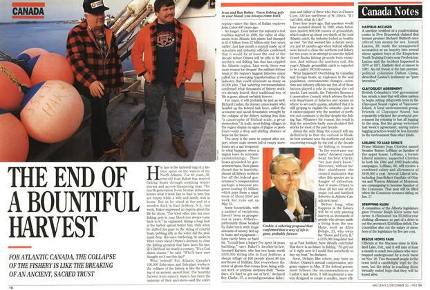 Article Preview: THE END OF A BOUNTIFUL HARVEST, December 1993 | Maclean's