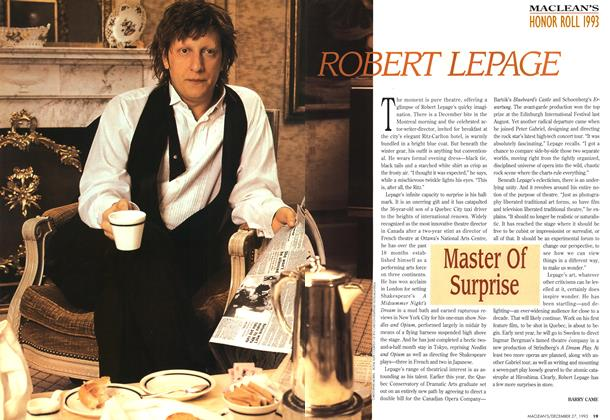 Article Preview: ROBERT LEPAGE, December 1993 | Maclean's