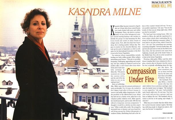 Article Preview: KASANDRA MILNE, December 1993 | Maclean's