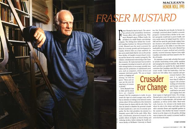 Article Preview: FRASER MUSTARD, December 1993 | Maclean's