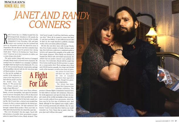Article Preview: JANET AND RANDY CONNERS, December 1993 | Maclean's