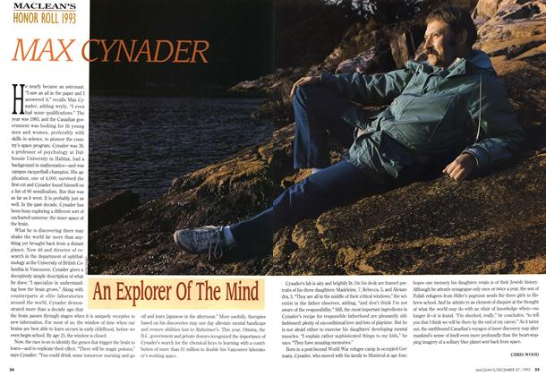 Article Preview: MAX CYNADER, December 1993 | Maclean's