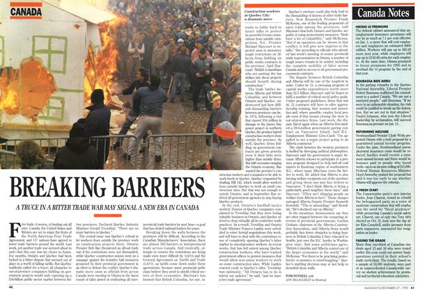 Article Preview: BREAKING BARRIERS, December 1993 | Maclean's