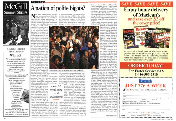 Article Preview: A nation of polite bigots?, December 1993 | Maclean's