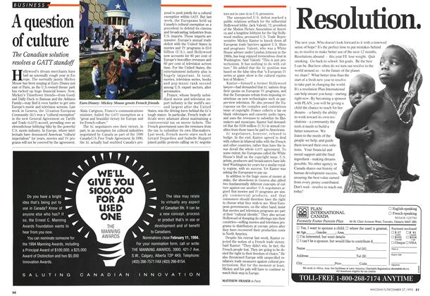 Article Preview: A question of culture, December 1993 | Maclean's